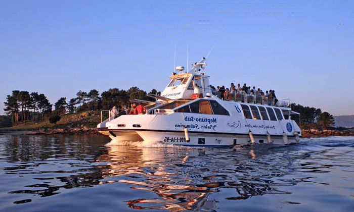 Paseo en bote en las Rías Baixas